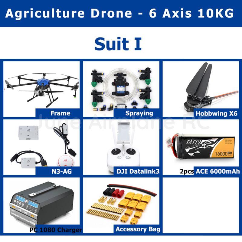Neue EFT E610 6-achse 10 KG Pestizid spritzen system Landwirtschaft drone