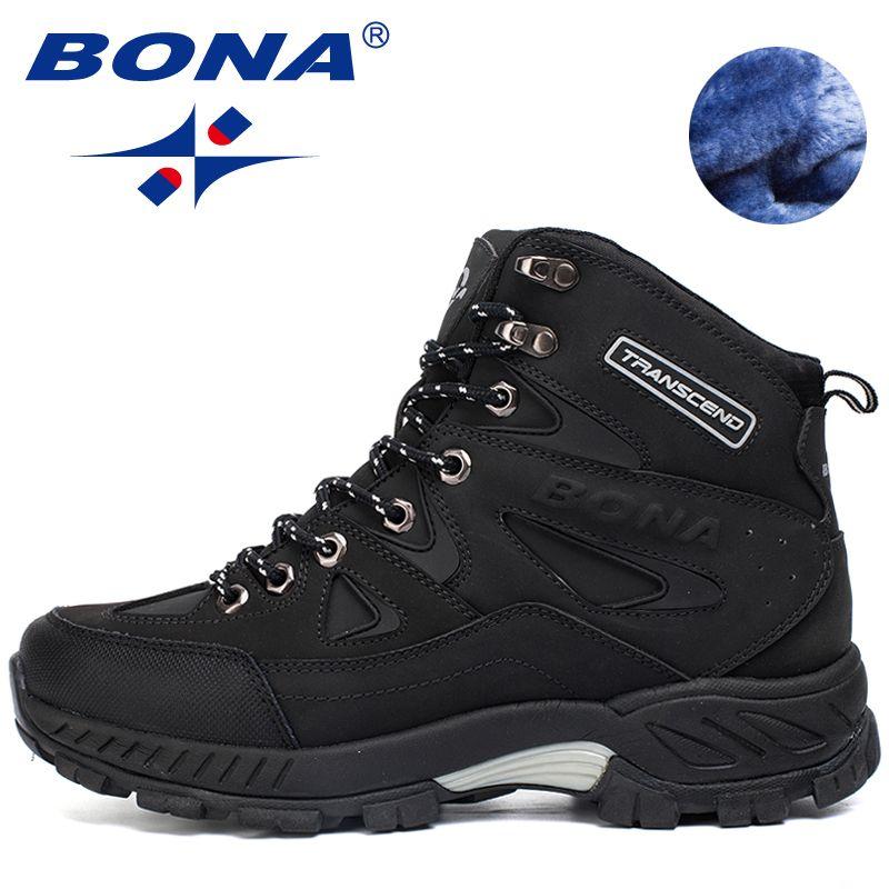 Bona Новинка мужские кроссовки противоскользящим открытый Спортивная обувь Ходьба треккинг скальные Кроссовки Zapatillas удобные ботинки