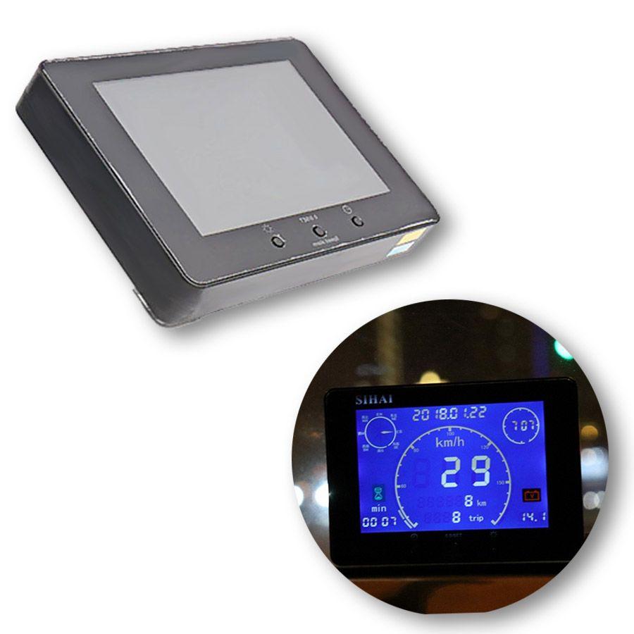 1 stücke 12 v/24 v Neue Multifunktions GPS Signal Auto Lkw Lcd-computer-geschwindigkeitsmesser-grüne Gauge Zeit Stunde Meter Voltmeter gauge