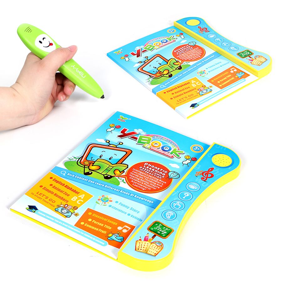 E-Book reading book with pen multi-function learning machine,English language ABC letters,animal numbers and funny choose game