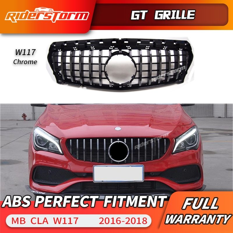 For W117 Amg GT Grille Front Grill for Mercedes CLA class W117 CLA200 220 CLA250 260 300 2016-2018 grill