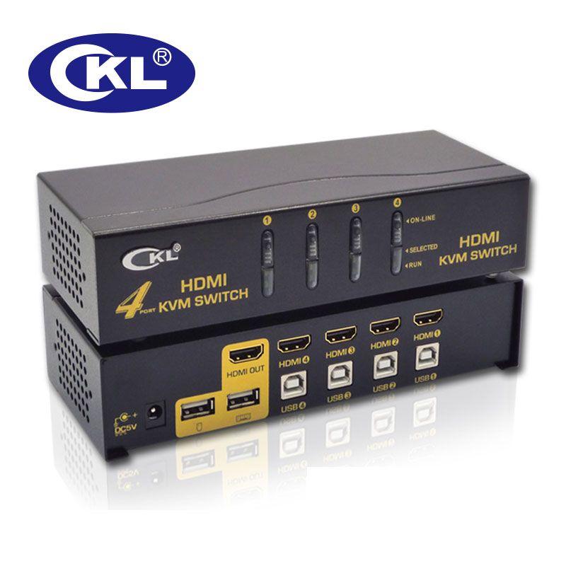 CKL USB HDMI Kvm-switch 4 Port PC Monitor Tastatur maus Switcher Unterstützung Hotkey Maus Auto Scan Schalt 1080 P 3D CKL-94H