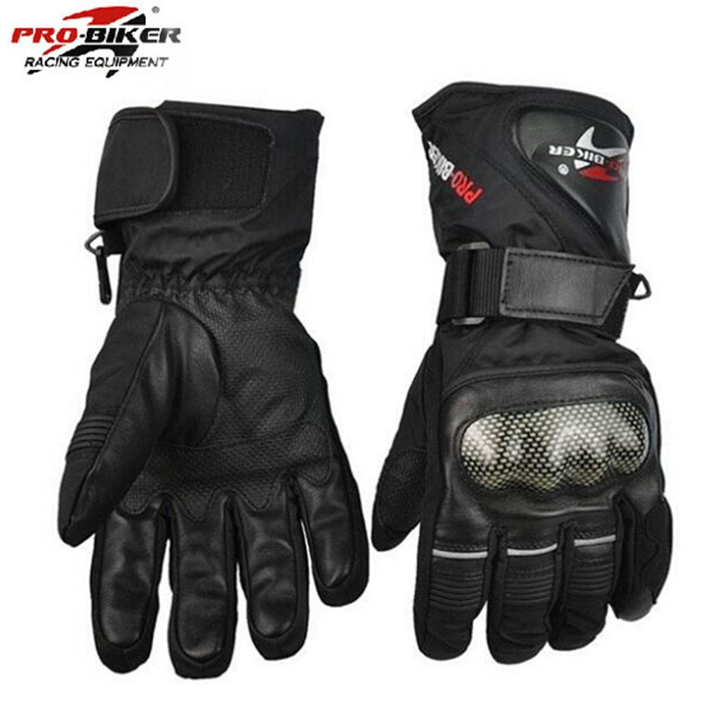 Pro Biker Guantes Motorcycle Gloves Waterproof Leather Gloves Motorcycle Winter Warm Full Finger Motocross Motorbike Moto Glove