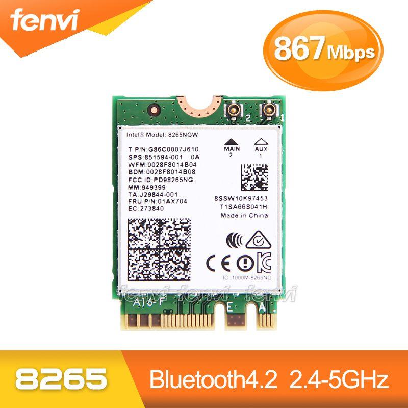 Fenvi Dual Band 867 Мбит/с Беспроводной Wi-Fi карты для Intel 8265ngw 802.11ac Bluetooth 4.2 8265 NGFF Wi-Fi WLAN сетевая карта 2.4 г/5 г