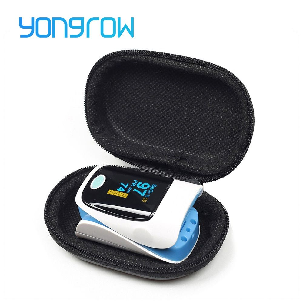 Yongrow Medical Household Digital Fingertip pulse Oximeter <font><b>Blood</b></font> Oxygen Saturation Meter Finger SPO2 PR Monitor CE Portable
