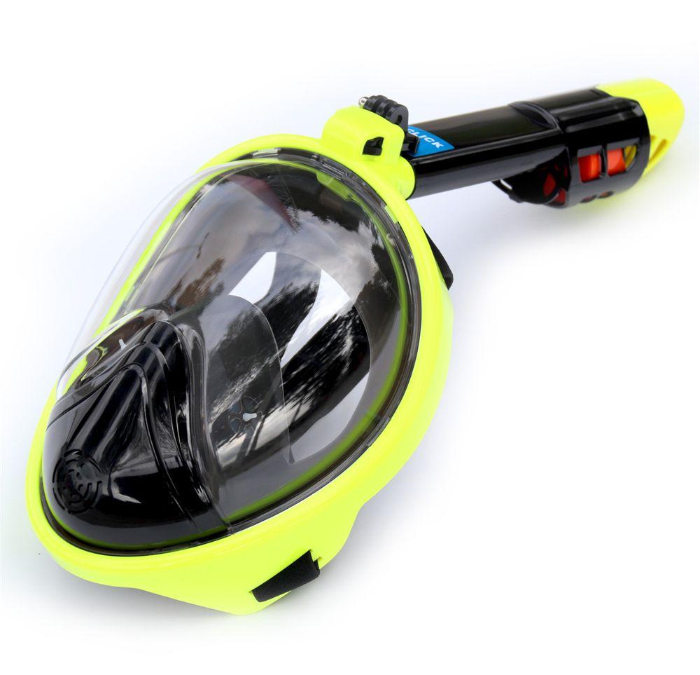 2018 masques de plongée en apnée visage complet vue panoramique Anti-buée Anti-fuite natation tuba plongée sous-marine masque de plongée Compatible GoPro