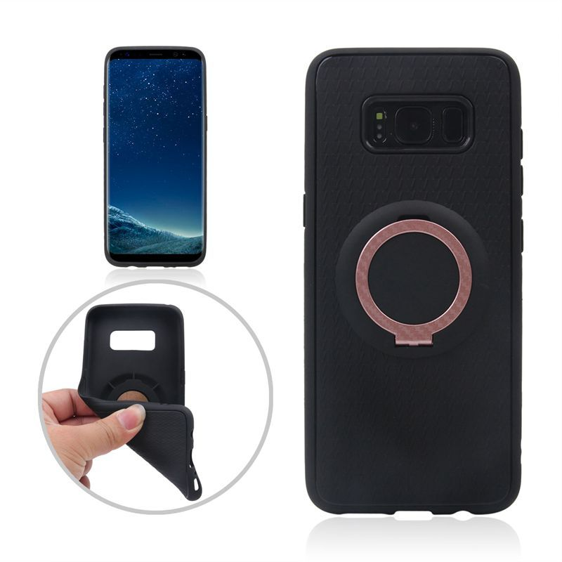 Wonderfultry Bag Cases Capa For Galaxy S8 G950 Slim TPU Back Cover with Finger Ring Kickstand Case for Samsung Galaxy S8 SM-G950