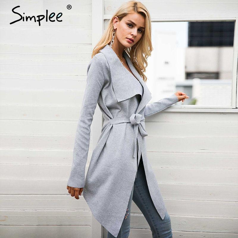 Simplee Sash упругие Кардиган Зимний свитер женский джемпер вязаный кардиган женский пальто мягкие повседневные Свитер Тянуть верхняя одежда