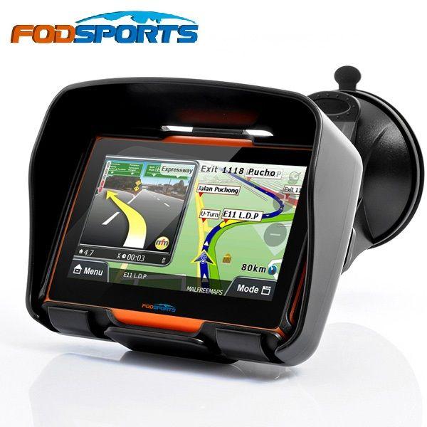 Fodsports mise à jour 256 M RAM 8 GB Flash 4.3 pouces Moto GPS navigateur étanche Bluetooth Moto gps voiture Navigation cartes gratuites