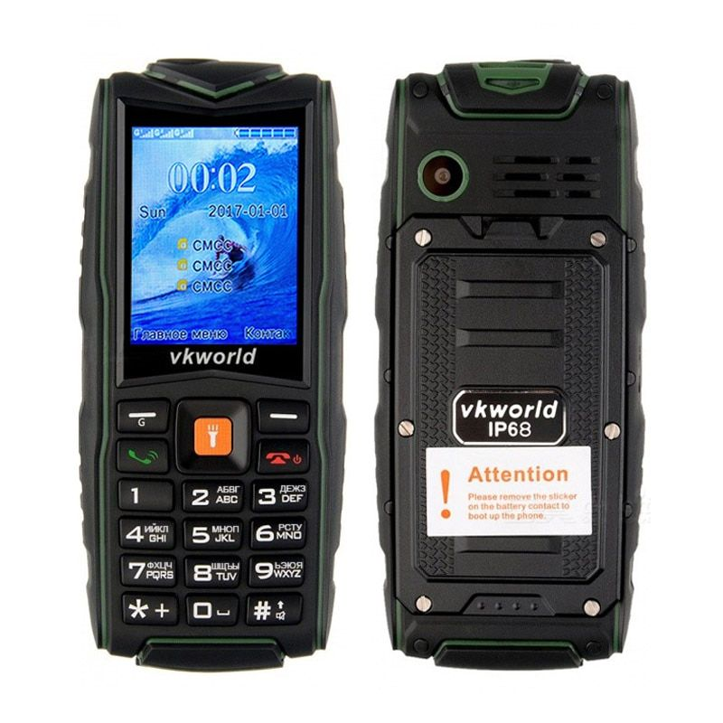 Original Vkworld Stone V3 IP67 Waterproof Shockproof Dustproof Mobile Phone Power Bank Long Standby Outdoor Army 3000mAh