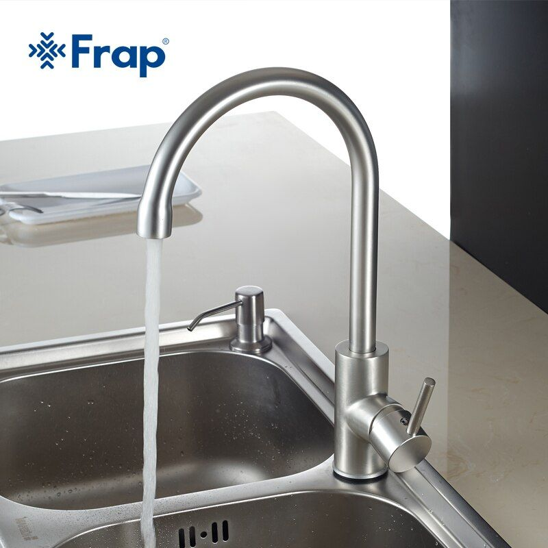 Frap Hot and Cold Water Classic kitchen faucet Space Aluminum brushed process swivel Basin faucet 360 degree rotation F4052