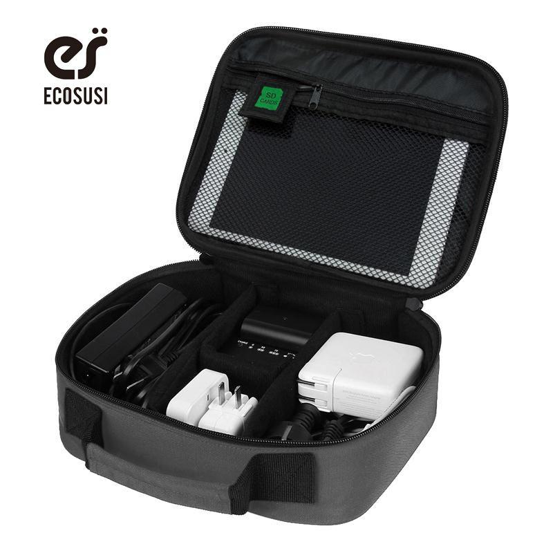 Ecosusi Дата кабель цифровой Интимные аксессуары отделка мешок данных Зарядное устройство Провода сумка для хранения mp3 Наушники USB Flash Drive орга...