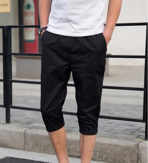 2018 summer candy color seven points casual pants men 7 points  pants large size