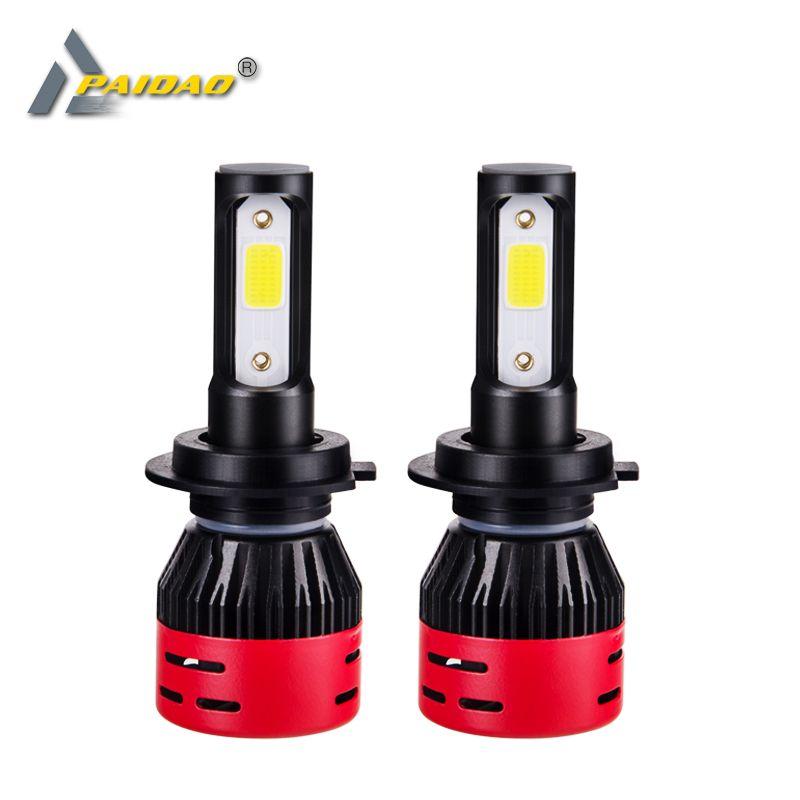 4300K 6500K Led H7 H4 Car Headlight LED H1 H11 H3 9005 HB3 9006 HB4 Bulbs 12V 24V 72W 8000lm Led Light AUTO Fog Lamp COB Chips