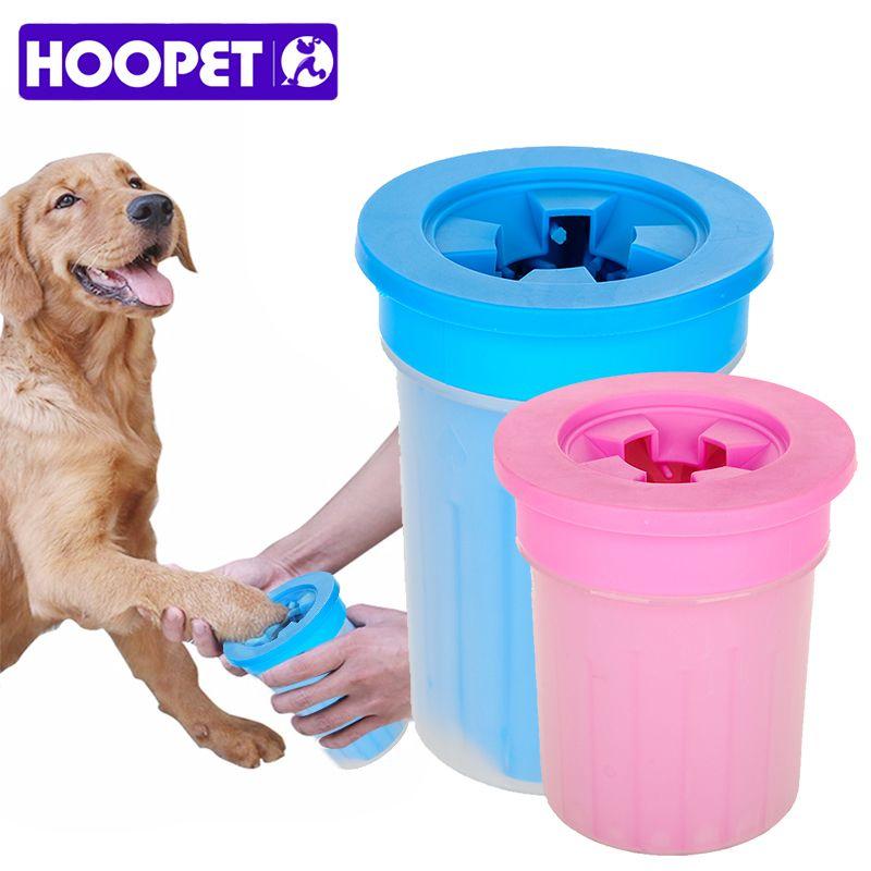HOOPET Pet chats nettoyant chiens pied propre tasse pour chiens chats outil de nettoyage en plastique brosse de lavage patte rondelle accessoires pour animaux de compagnie pour chien