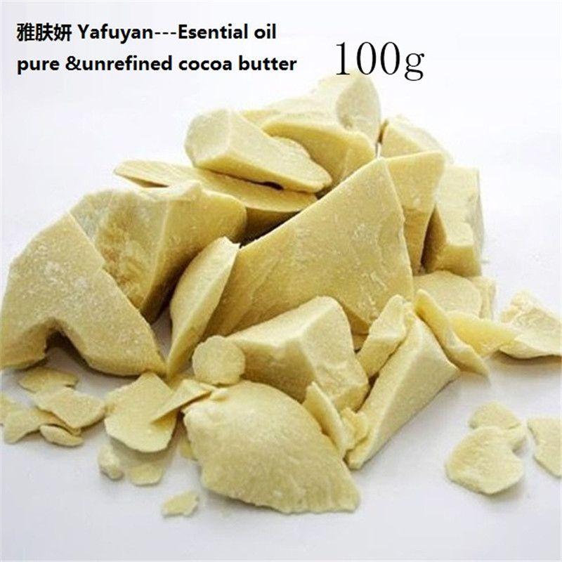 Cosmétiques YAFUYAN 100g Pur Beurre De Cacao Brut Non Raffiné Beurre De Cacao Naturel D'huile De Base D'huile Huile Essentielle BIO de qualité cosmétique
