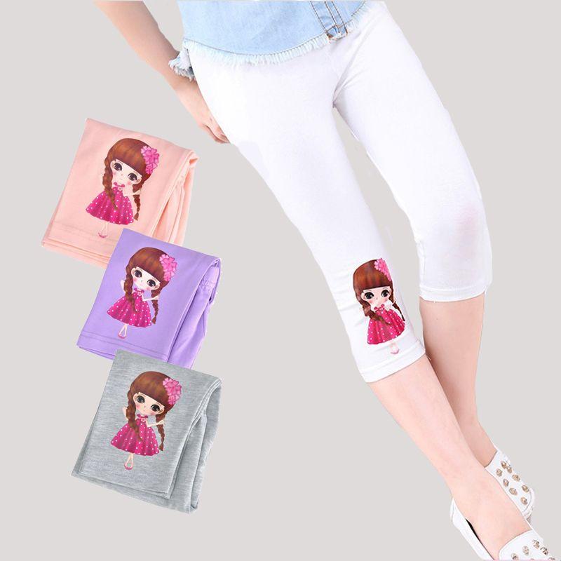 3 4 5 6 7 8 9 10 11 12 ans filles Leggings coton bande dessinée mollet-longueur pantalon pour filles pantalons d'été 2018 enfants vêtements de danse
