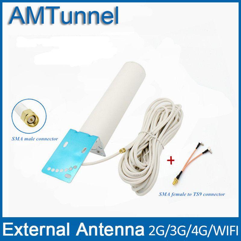 4G antenne 4G LTE externe antennna 3G antenne sma-stecker with10m kabel und sma-buchse auf TS9 anschluss für 3G 4G router modem