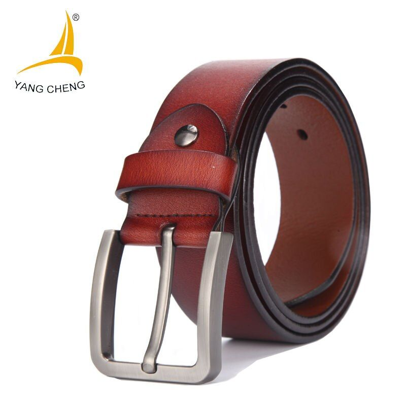 [CNYANGCHENG]Male Genuine Leather Strap Belt Buckle Cummerbunds Luxury Belts For Men Designer Belts Men High Quality Waist Strap