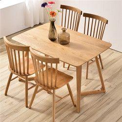 Tables à manger Salle À Manger Meubles de Maison en bois massif cuisine table table basse minimaliste bureau 120/140/160*70*75 cm nouveau