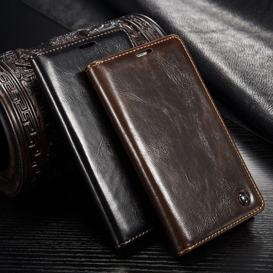Marque originale coques de téléphone Pour Fundas Samsung Galaxy S5 Pour Capa Samsung S5 i9600 En Cuir étui portefeuille fermeture magnetique Housse