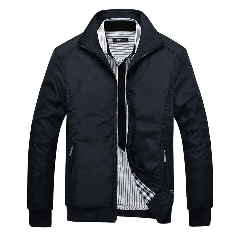 Abrigo rompevientos marca casual hombres chaqueta de bombardero estilete 2017 Nuevo Da Vuelta-abajo de La Venta Entera y Abrigos 4XL 5XL