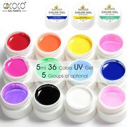 GDCOCO Nail Art Conseils DIY Conception Manucure 36 Couleur UV LED Soak Off BRICOLAGE Peinture Couleur Encre UV Gel Vernis Nail Gel Polish Laque Gel