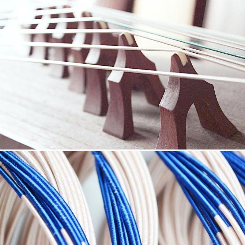 Ein Satz Chinesischen Musikinstrumente Mehrfarben Nylon Stahl Guzheng String 1-21 #