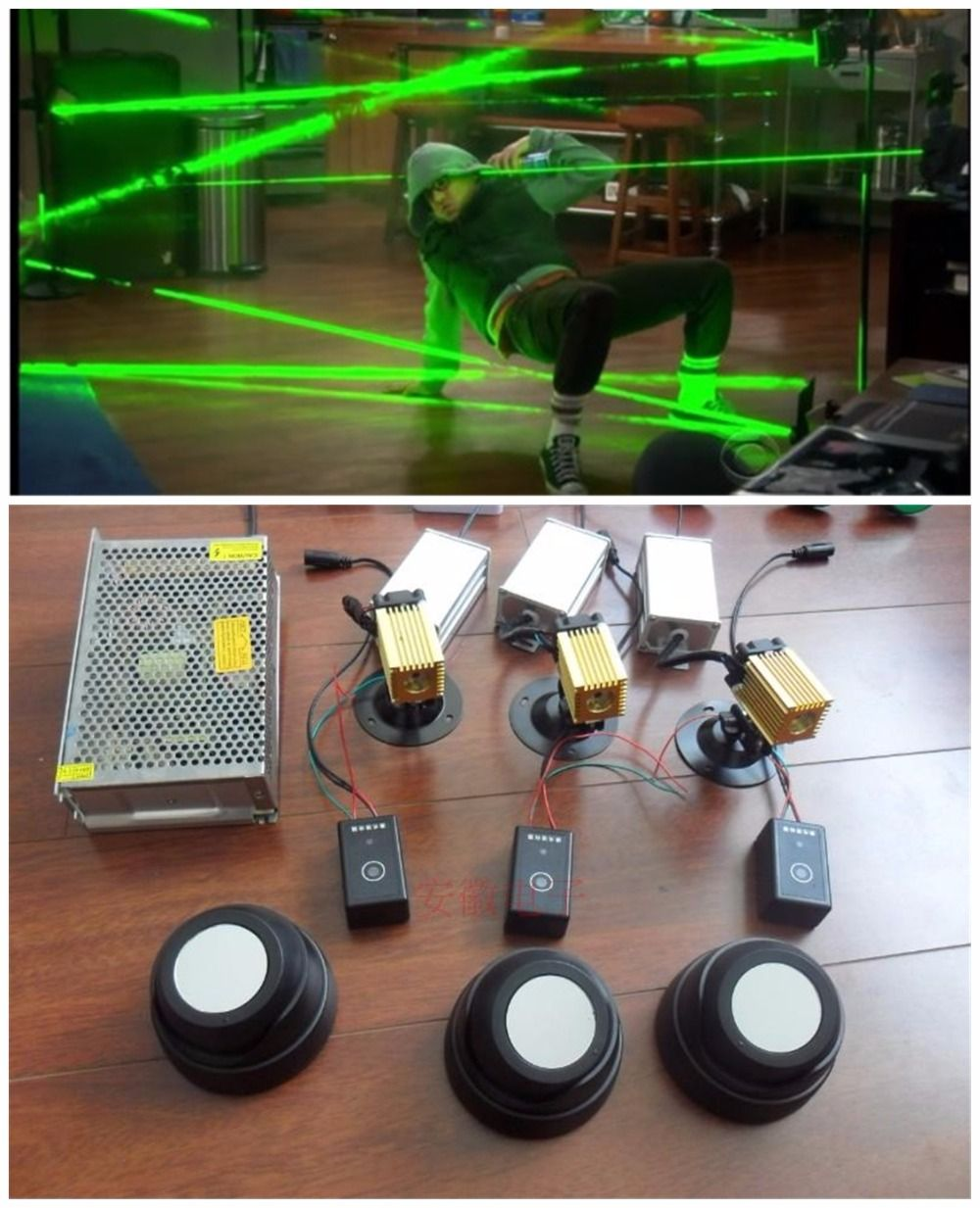 hotsale design magic penetralium escape props Real life room green laser array chamber of escape secret game kit
