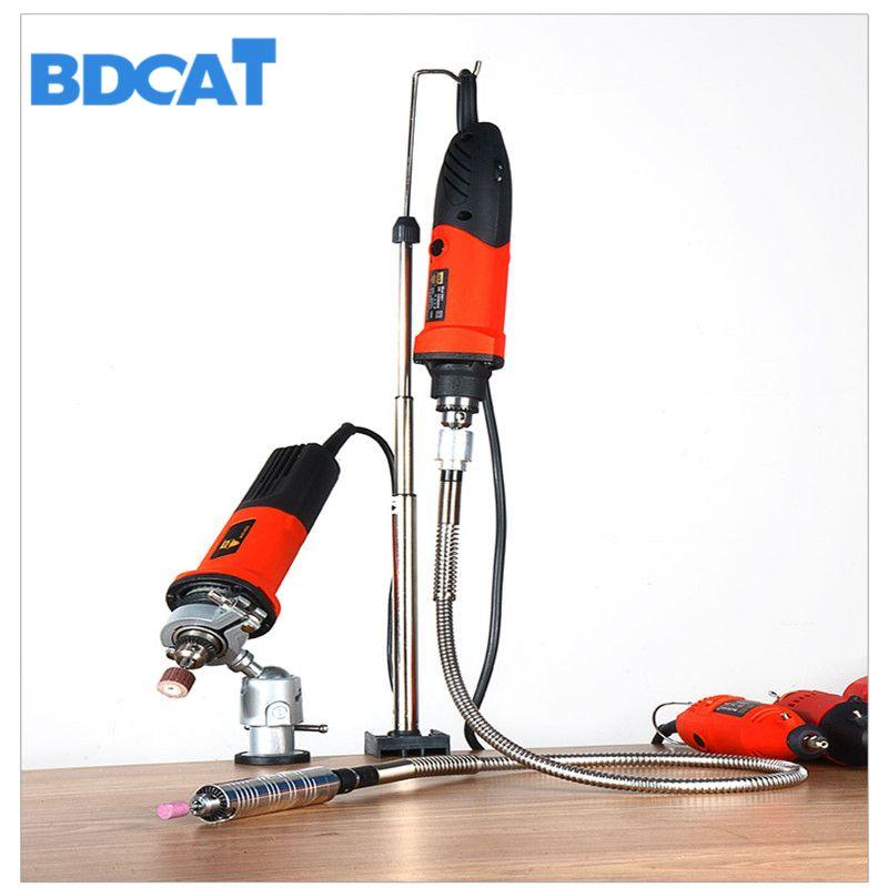 BDCAT Dremel support support suspendu accessoires électriques outils arbre flexible Mini support de perceuse meuleuse multifonctionnelle