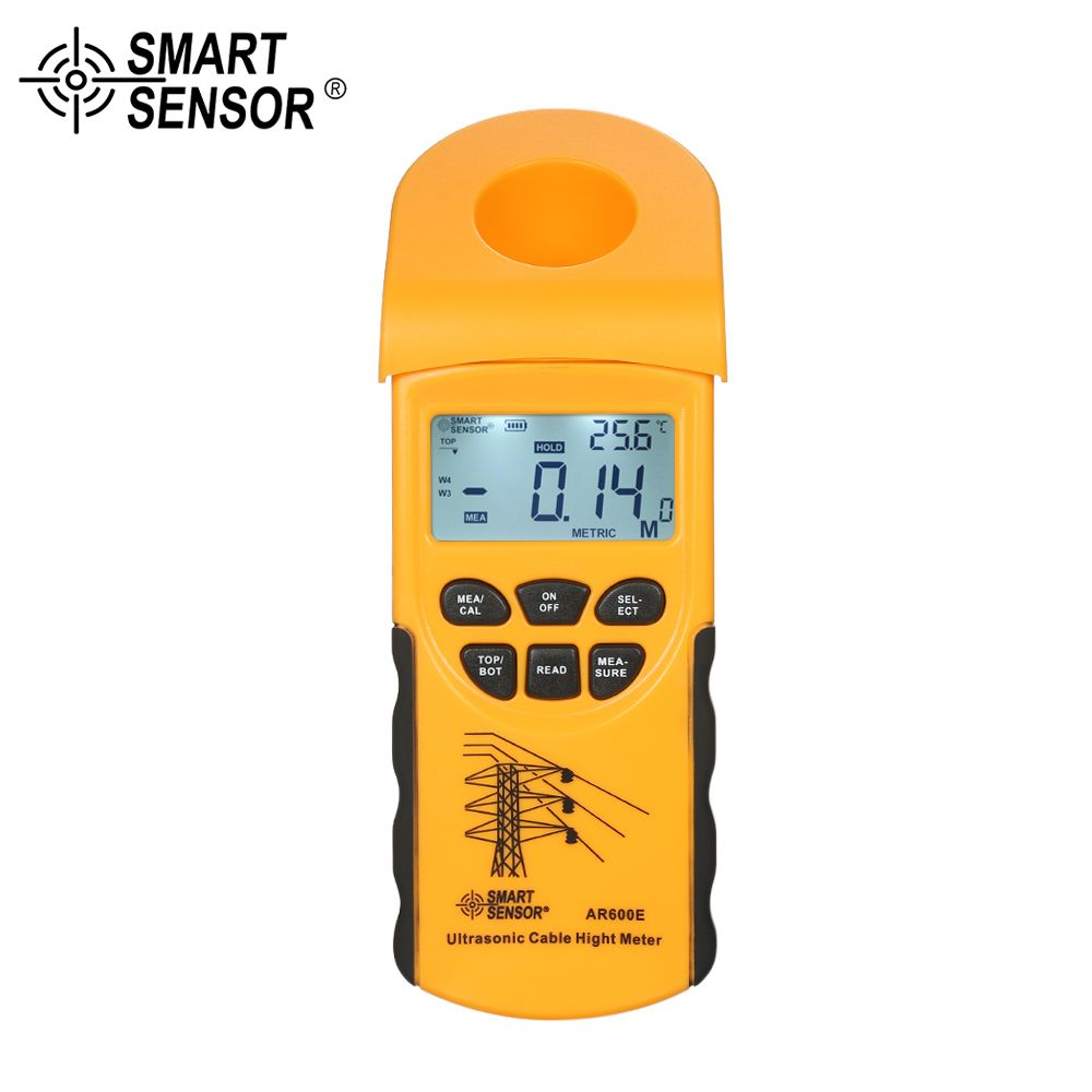 Digital LCD Ultrasonic Cable Height Meter Handheld Height Cable Tester Measuring the Height of Overhead Cables 3-23m