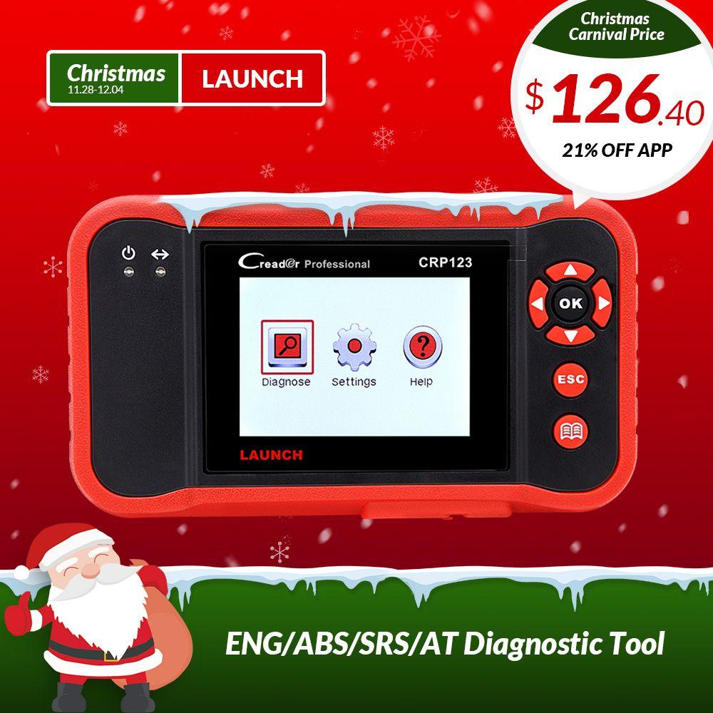 STARTEN CRP123 Professionelle obd2 Auto Scanner OBDII code reader scan tool CRP 123 test Motor ABS Airbag ZU Gleiche wie creader VII +