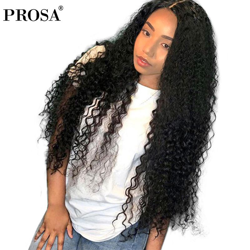 Lace Front Human Hair Wigs For Women Black Pre Plucked Full 250 Density Curly Human Hair Wig 13x4 Brazilian Lace Wig Prosa Rermy