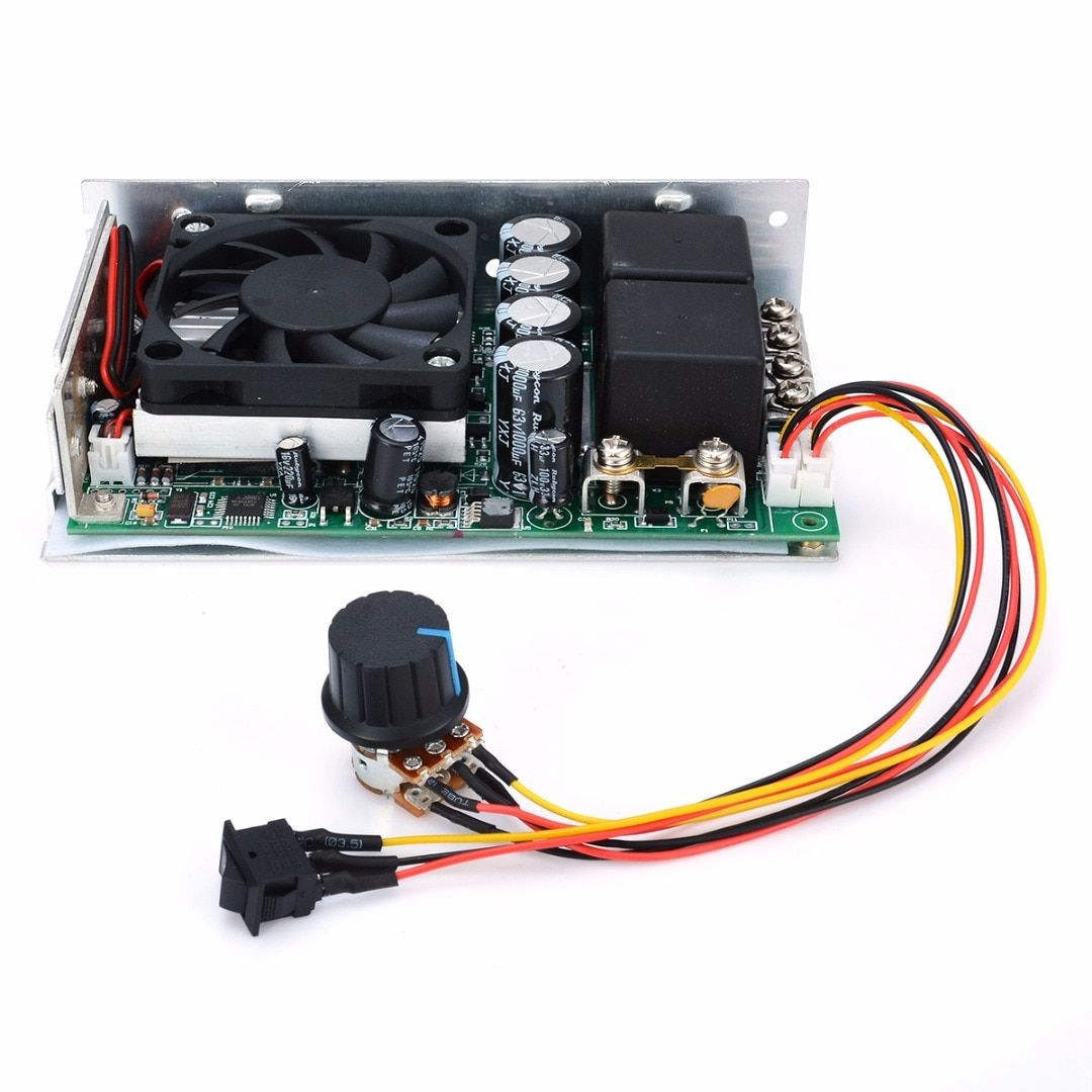 New DC 10-50V 100A 3000W Programable Reversible PWM Control Motor Speed Controller