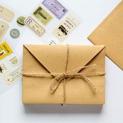 Portefeuille Enveloppe 50 Pièce Papier Kraft Enveloppe Cadeau De Mariage Enveloppes 160*110mm École Et Fournisseur de Bureau Papeterie