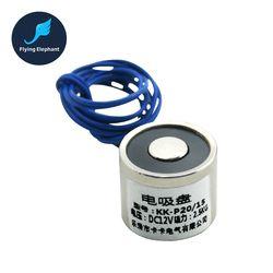 Électrique Aimant 20/15 DC 6 V 12 V 24 V 6 W Électrique mandrin Tenant 25 KG Aimants Pour Artisanat