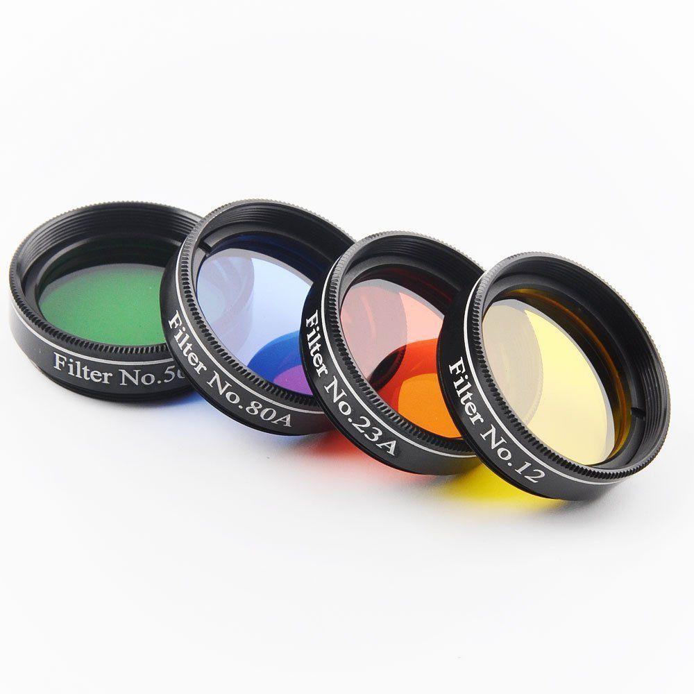 1.25 pouce 4 pcs Télescope Filtre en verre filtres nébuleuse Ensemble Astronomique Télescope oculares