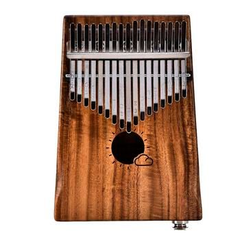 New 17 Keys Finger Kalimba Mbira Sanza Thumb Piano Pocket Size Beginners Supporting Bag Keyboard Marimba Wood Musical Instrument
