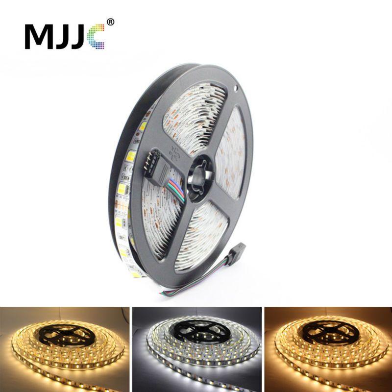 Bande de LED 5050 12 V 5 M WW CW CCT réglable bande de LED Flexible s'allume chaud au blanc froid pour l'éclairage intérieur à la maison