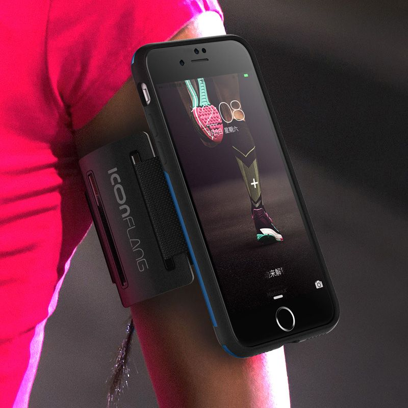 Phone Back Shell ICONFLANG Gym Sport Armband Case for iphone 7  Accessories Running Phone Pouch Cover Arm Band Case