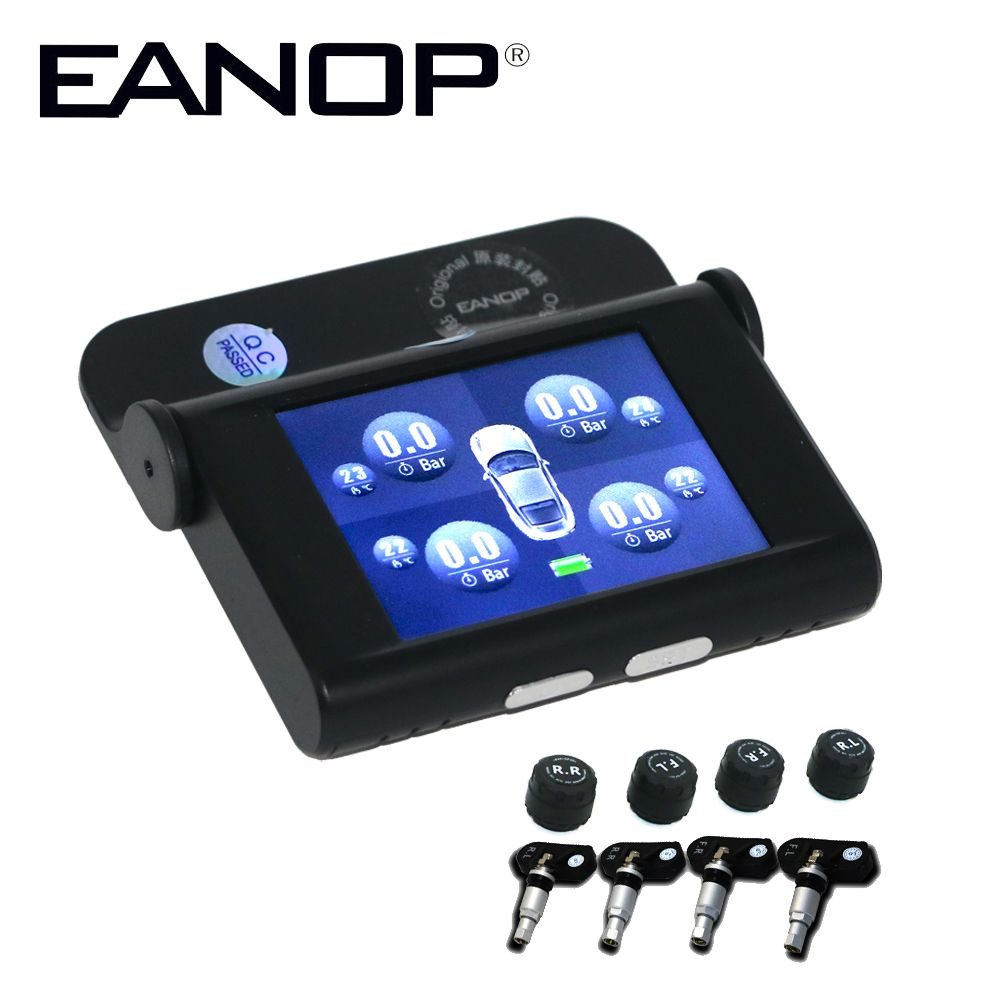 EANOP EN368 TFT 2.4 inch Screen Car TPMS Tire Pressure Monitoring System Internal <font><b>External</b></font> Sensors ADAS Alarm Max 5Bar 73PSI