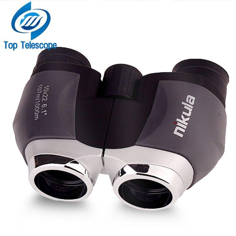 Genuine <font><b>telescope</b></font> nikula 10x22 hd binoculars for fishing portable outdoor fun sports game concert telescopio spotting scope mini