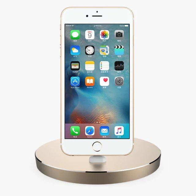 Aluminum desktop Mini stand Base dock station charger for apple iphone 5 se 5c 5s 6 6s plus With box