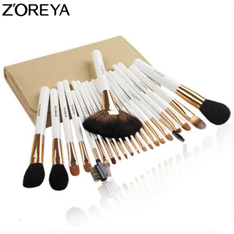 ZOREYA Brand 22pcs Sable Hair Professional Makeup Brush Set High Quality Make Up Brushes Fan Powder Eyeshadow Makeup Brushes