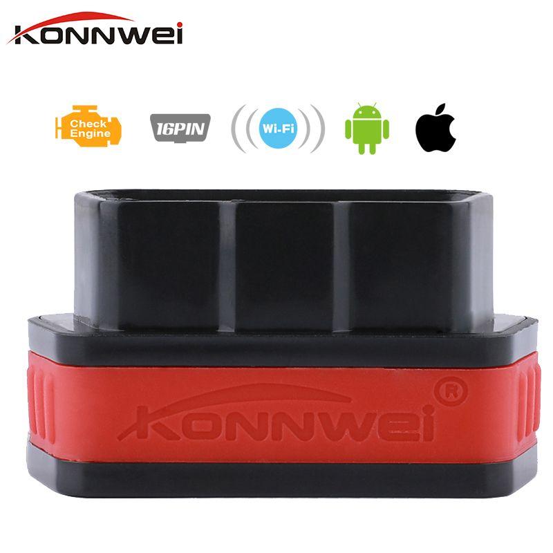 Konnwei ELM327 OBD2 Wi-Fi диагностический инструмент для iOS iPhone iPad Android код читателя сканирования Wi-Fi ELM 327 с pic18f25k80 чип