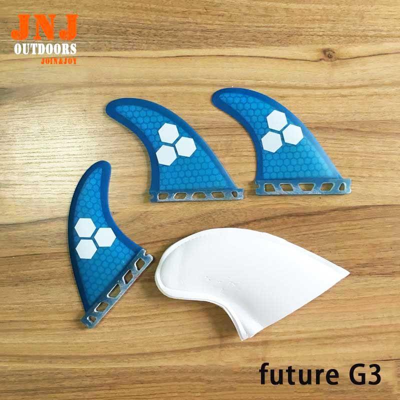 Free shipping blue fiberglass green future G3 S fins future surfboard fin Tri-set surf table future fins