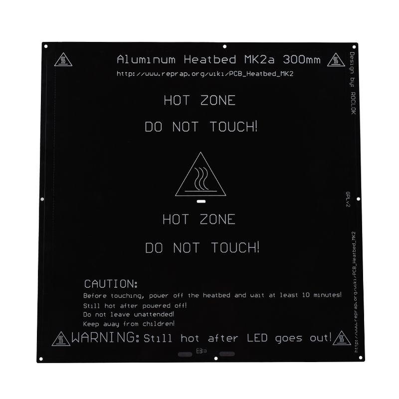 BIQU MK2A 300*300*3.0mm <font><b>RepRap</b></font> RAMPS 1.4 PCB Aluminum Heatbed Hot Plate For Mendel For 3D Printer MK2B