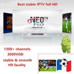 Neotv pro 1300 + canaux français IPTV Europe Arabe Belgique IPTV code d'abonnement liveTV M3U android énigmes 2 mag box smart TV