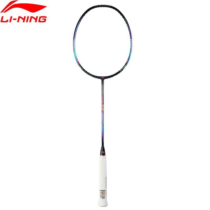 Li-Ning WINDSTORM 72 Badminton Rackets Single Racket Light Professional Carbon Fiber LiNing Rackets AYPM204 ZYF235