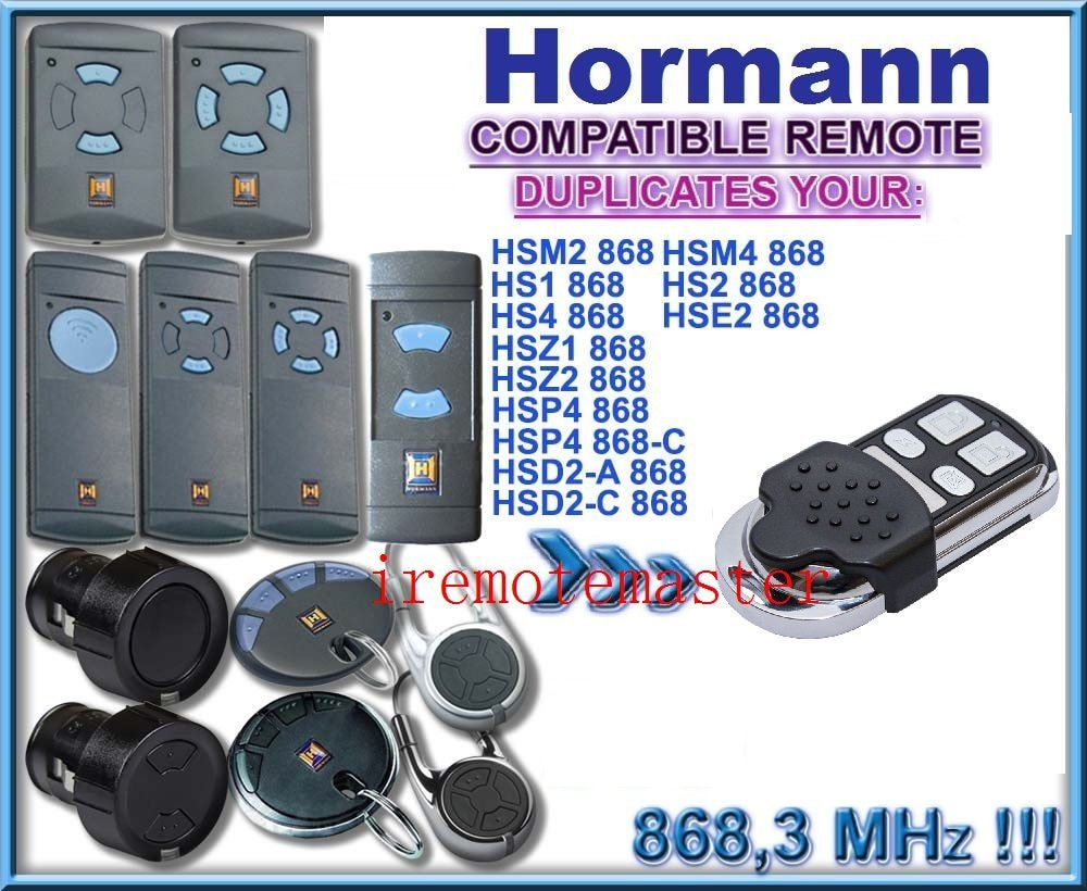 4 channel Hormann HSM4 868 mhz remote control Compatible with HSM2, HSM4 868MHz remote free shipping